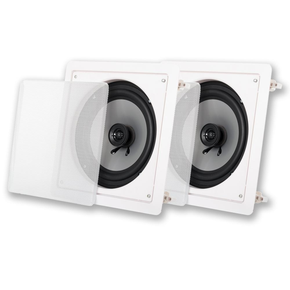 In-Wall / Ceiling 8 in. Speaker Pair Home Theater Speakers