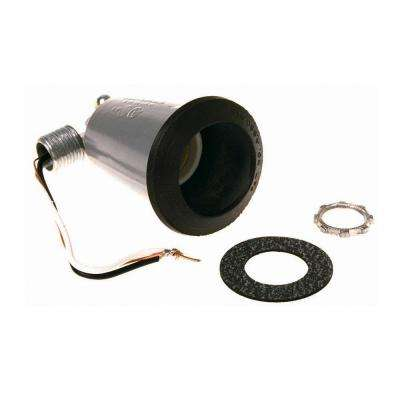 Gray Weatherproof Lamp Holder with Gasket