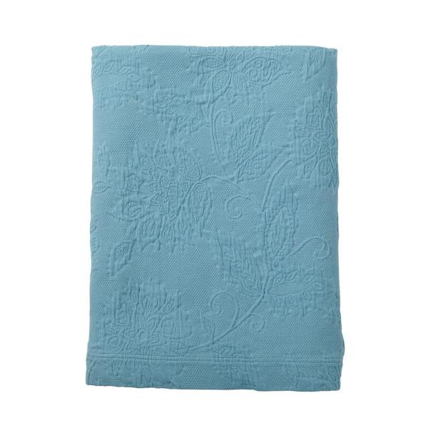 The Company Store Putnam Matelasse Lagoon Cotton King Coverlet 50170Q-K-LAGOON