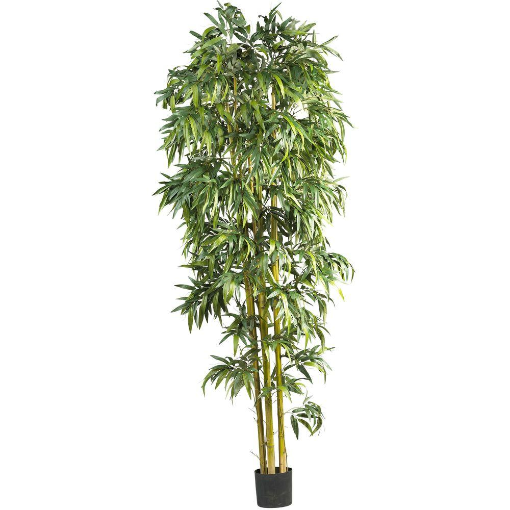 Nearly Natural 8 ft. Biggy Style Bamboo Tree, Green