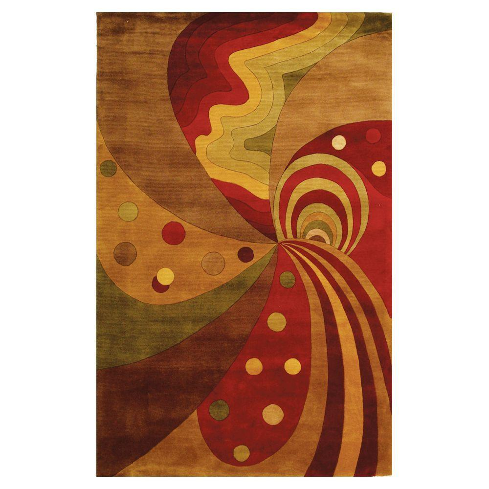 Kas Rugs Point of Escape Jeweltone 3 ft. 6 in. x 5 ft. 6 in. Area Rug
