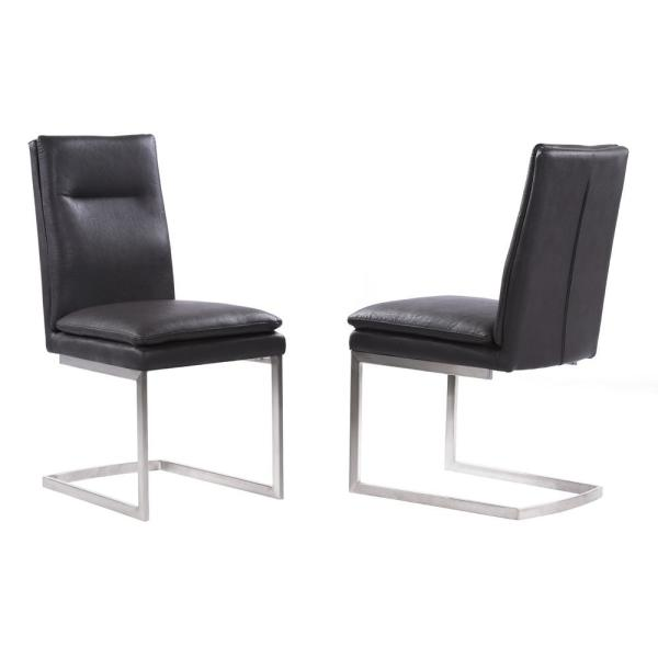 Armen Living Billard Grey Dining Chair (Set of 2) LCFESIGR