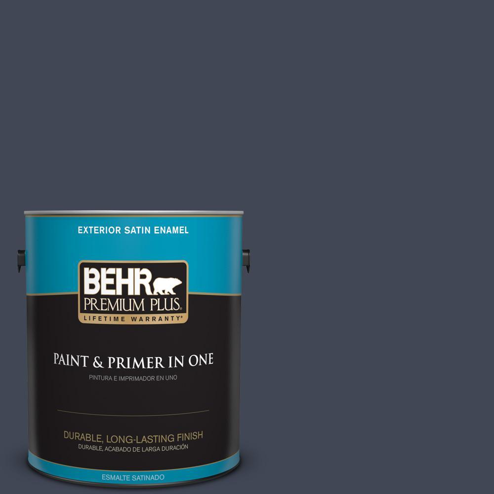 1 gal. #PPU14-20 Starless Night Satin Enamel Exterior Paint