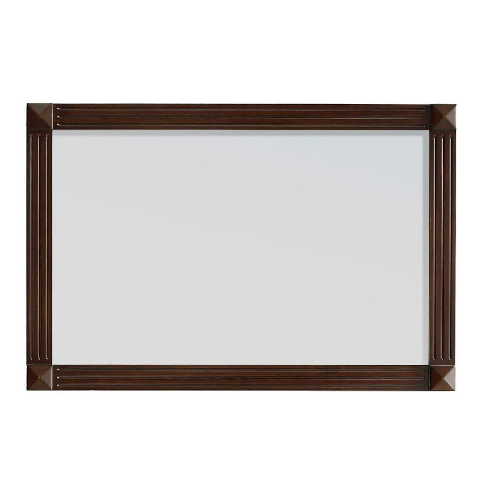 Belle Foret Ottis 36 in. W x 24 in. H Framed Wall Mirror in Tobacco
