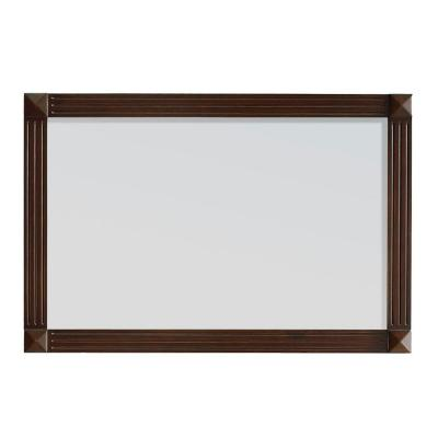 Ottis 36 in. W x 24 in. H Framed Wall Mirror in Tobacco