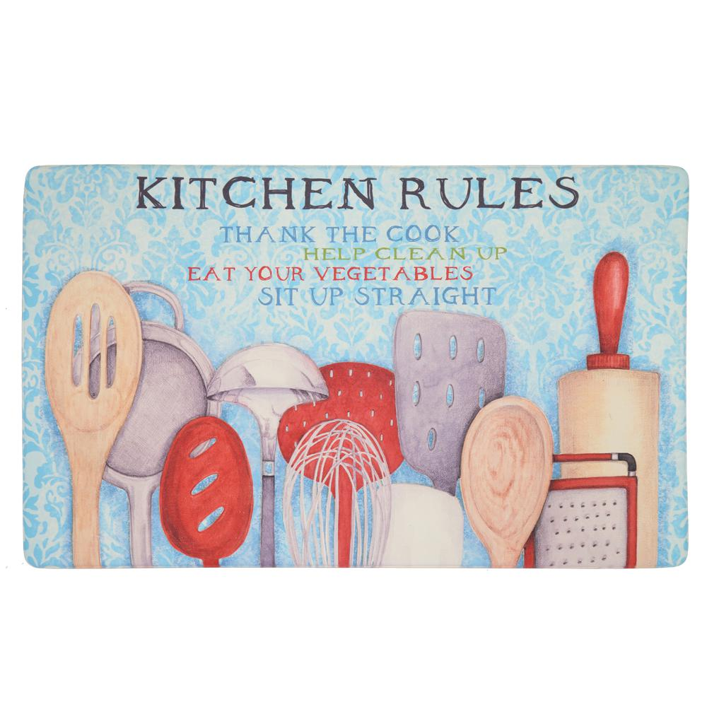 Mohawk Home Rules with Utensils Multi 18 in. x 30 in. Kitchen Mat ...