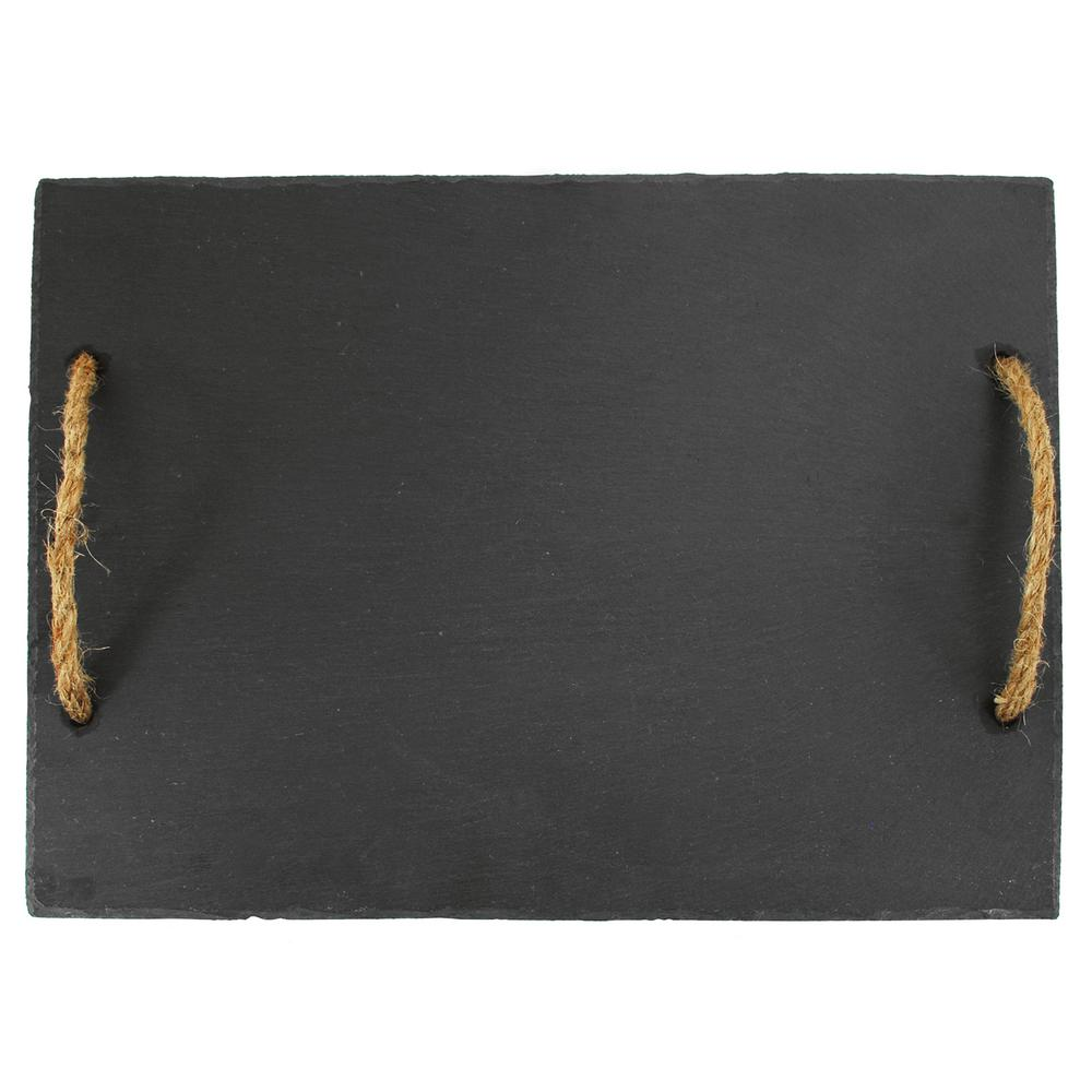 Rustic Elegance 1-Piece Hardwood Slate (Grey) Cutting Board