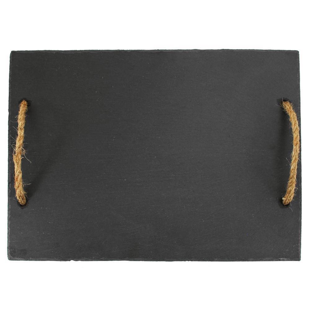Rustic Elegance 1-Piece Hardwood Slate Cutting Board