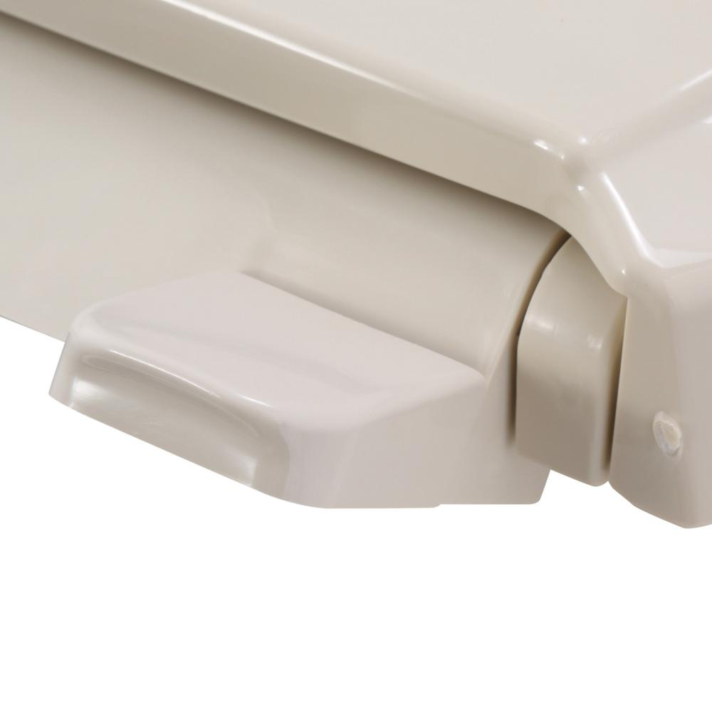 Strange Kohler Rutledge Quiet Close Elongated Toilet Seat With Grip Tight Bumpers In Almond Pdpeps Interior Chair Design Pdpepsorg