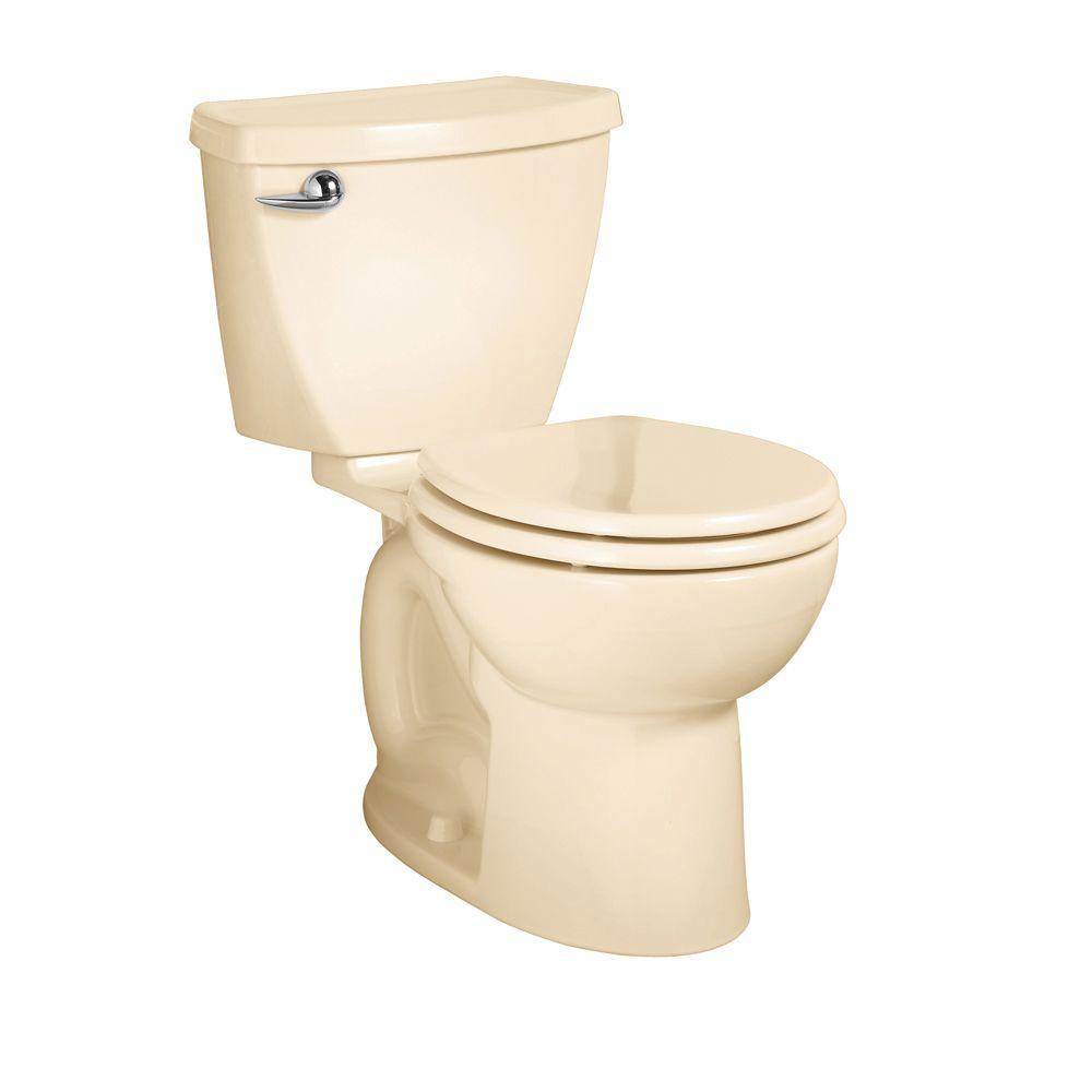 American Standard Cadet 3 Powerwash 10 in. Rough-In 2-piece 1.6 GPF Single Flush Round Toilet in Bone