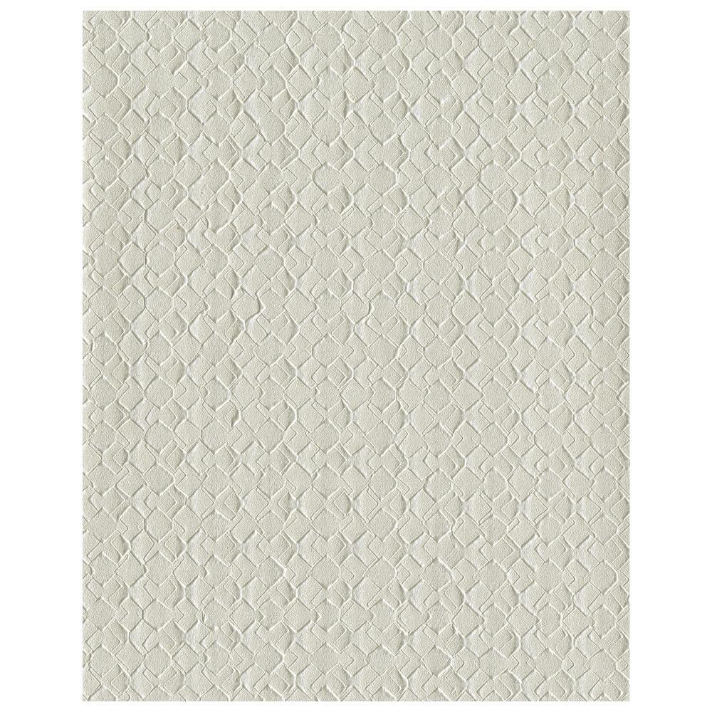 60.8 sq. ft. Impasto Diamond Wallpaper