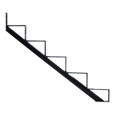 5-Steps Steel Stair Stringer black 7-1/2 in. x 10-1/4 in. (Includes 1 Stair Riser)