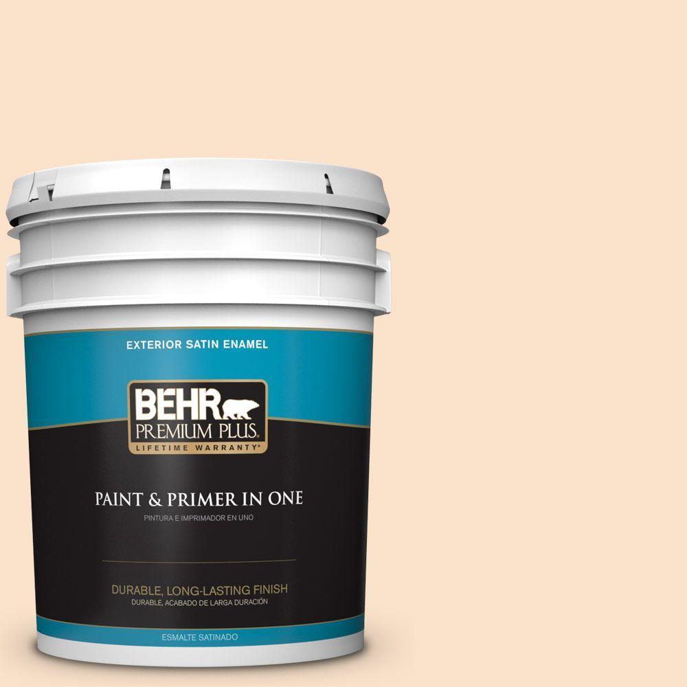 5-gal. #M250-1 Frosting Cream Satin Enamel Exterior Paint
