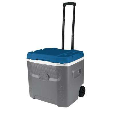 Quantum 52 qt. Gray Cooler with Wheels