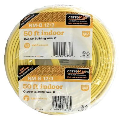 50 ft. 12/3 NM-B Wire, Yellow