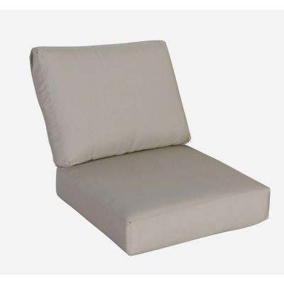 Mill Valley Beige Replacement Armless Section Back Cushion and Armless Section Seat Cushion