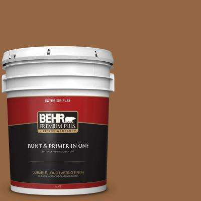 5 gal. #MQ2-6 Gilded Glamour Flat Exterior Paint and Primer in One