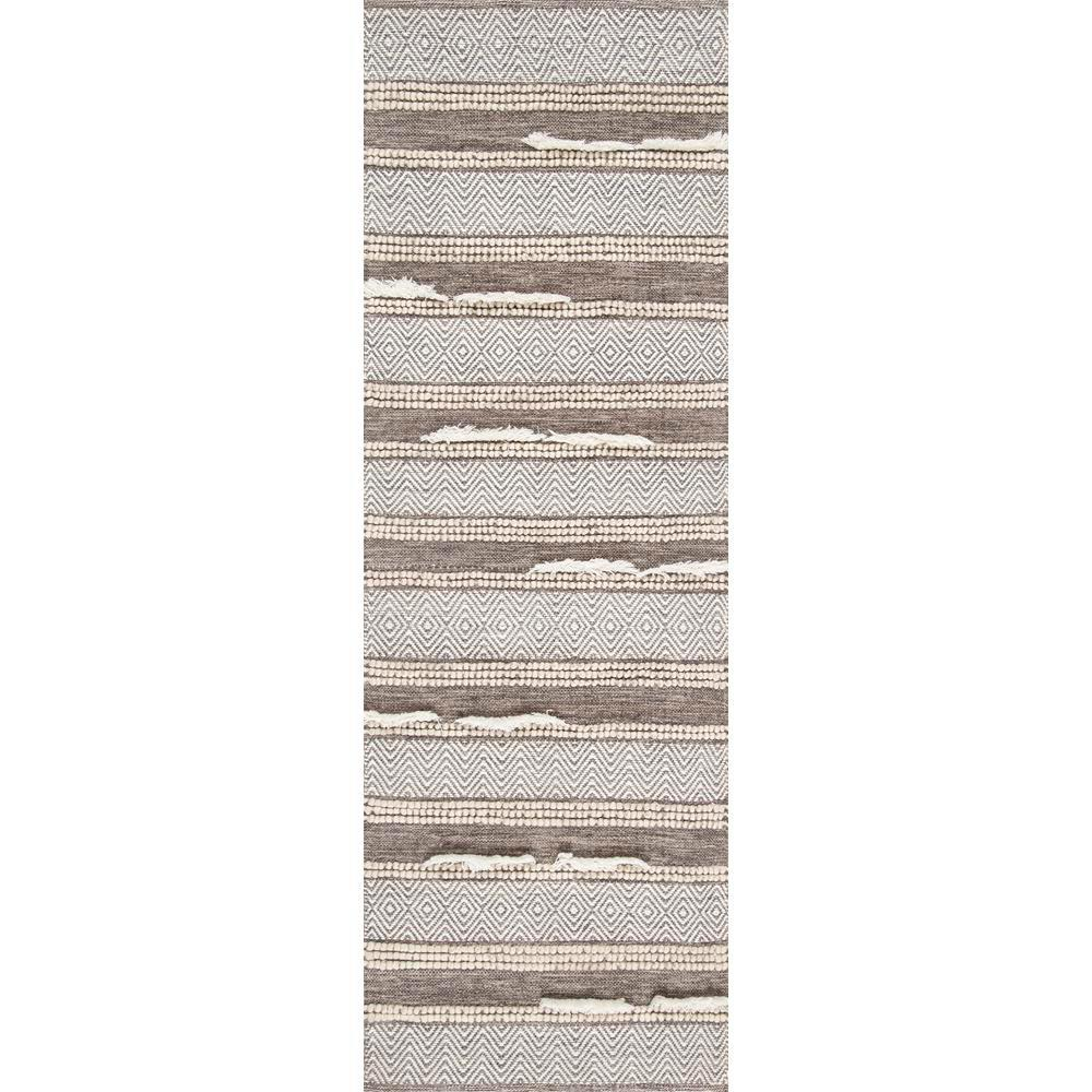 nuLOOM Chevron Liles Brown 2 ft. 6 in. x 8 ft. Runner