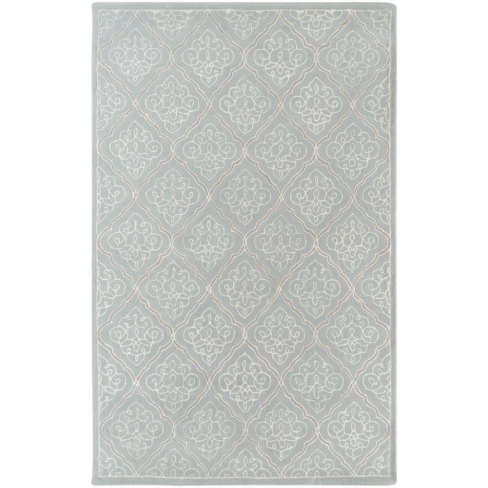 Surya Candice Olson Pale Blue 5 Ft X 8 Area Rug