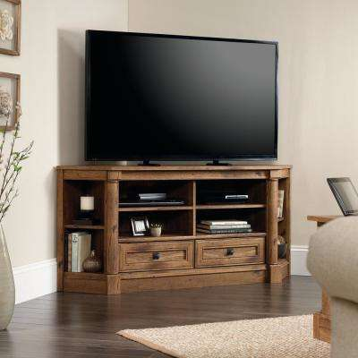 Palladia Collection Vintage Oak Corner Entertainment Credenza