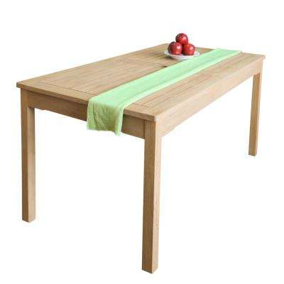 Beverly Rectangular Wood Outdoor Dining Table in Sand-Splashed