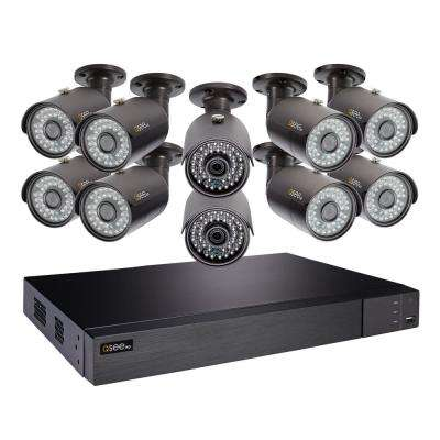 16-Channel 4MP 2TB HeritageHD DVR Security System with 10 4MP Bullet Cams