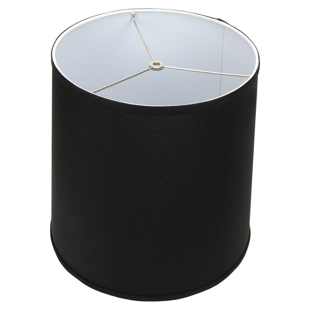 Fenchel Shades 13 in. Top Diameter x 15 in. Bottom Diameter x 15 in. Slant,  Empire Lamp Shade - Linen Black