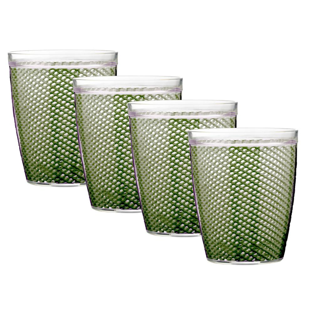 Fishnet 14 oz. Kale Green Insulated Drinkware (Set of 4)