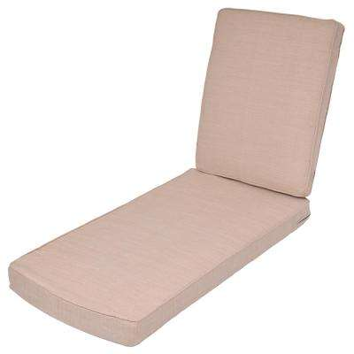 Oatmeal Replacement 2-Piece Outdoor Chaise Lounge Cushion