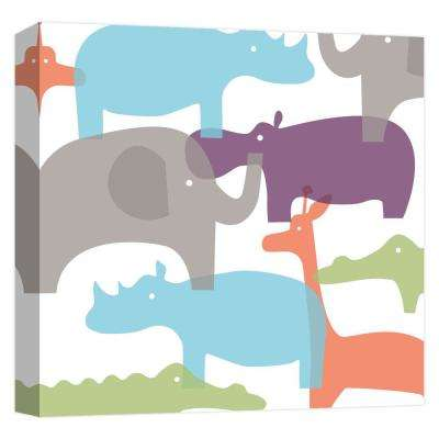 15.inx15.in ''Collaged African Animals'' Printed Canvas Wall Art