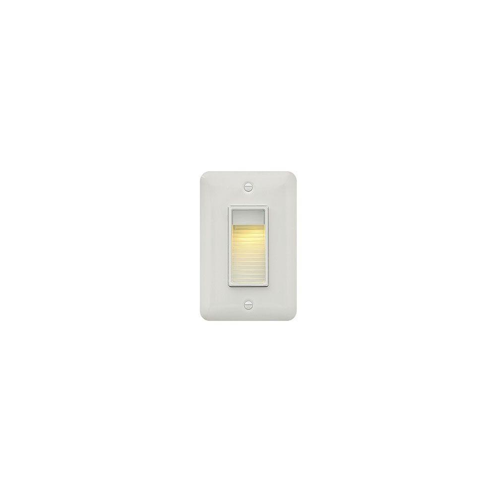120-Volt 4-Watt Vertical Satin White LED Luna Step Light