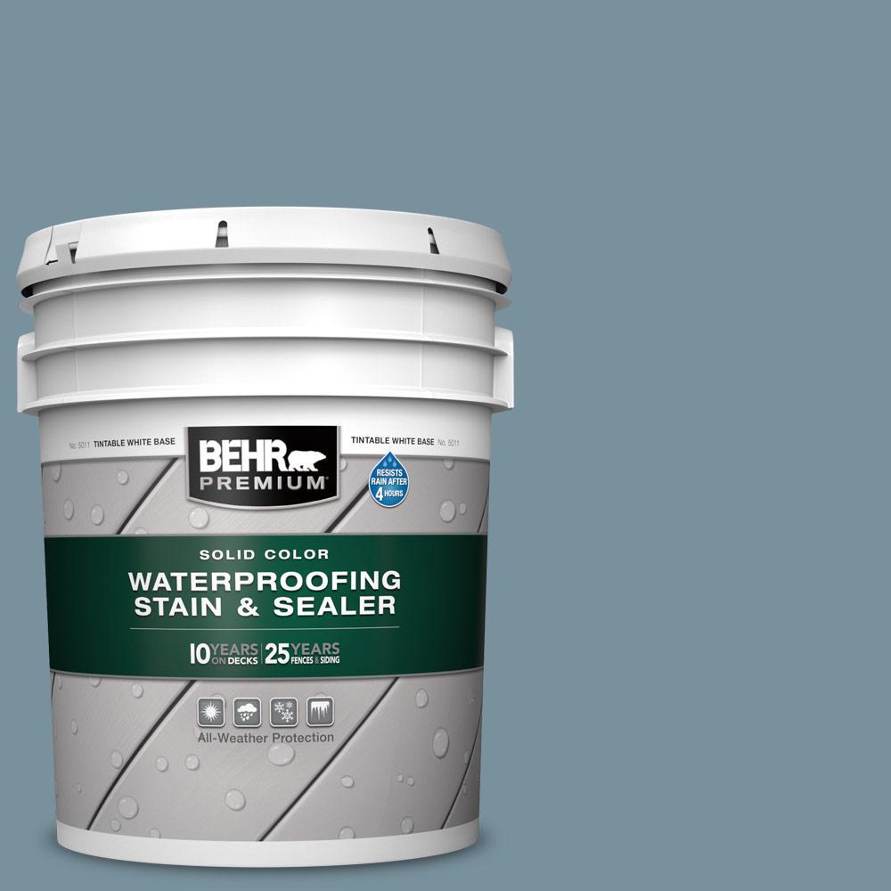 5 gal. #SC-113 Gettysburg Solid Color Waterproofing Exterior Wood Stain and Sealer