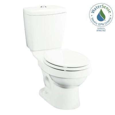 Karsten 2-piece 0.8 or 1.6 GPF Dual Flush Round Front Toilet in White