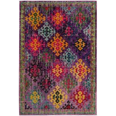 Monaco Purple/Multi 8 ft. x 10 ft. Area Rug