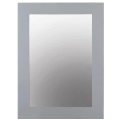 22 in. W x 30 in. H Framed Rectangular  Bathroom Vanity Mirror in Pebble Grey