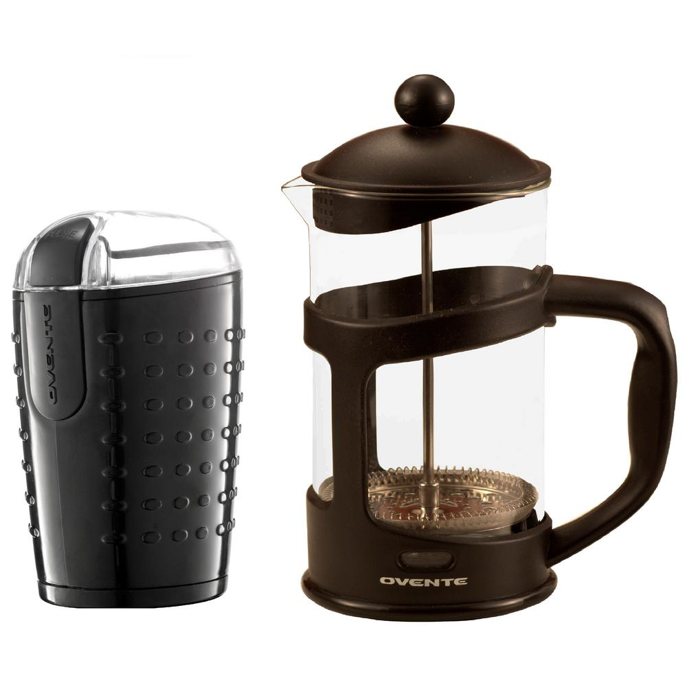 Electric Coffee Bean Grinder and French Press