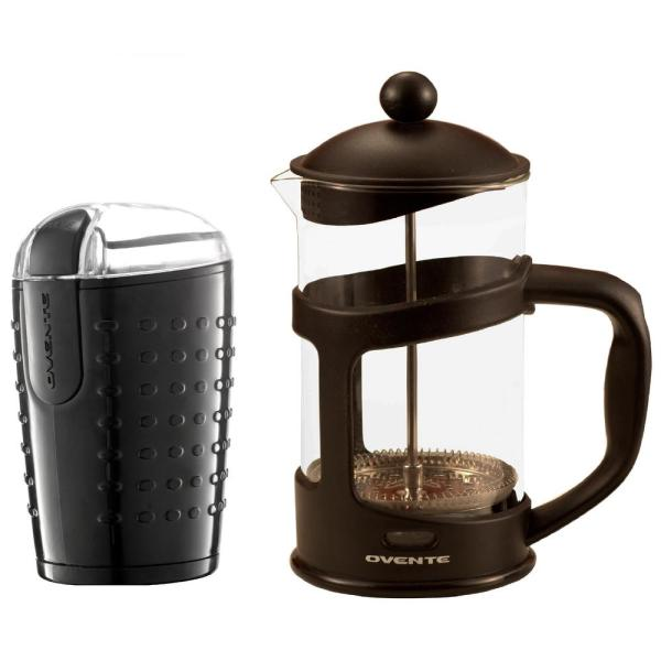 Ovente Electric Coffee Bean Grinder and French Press