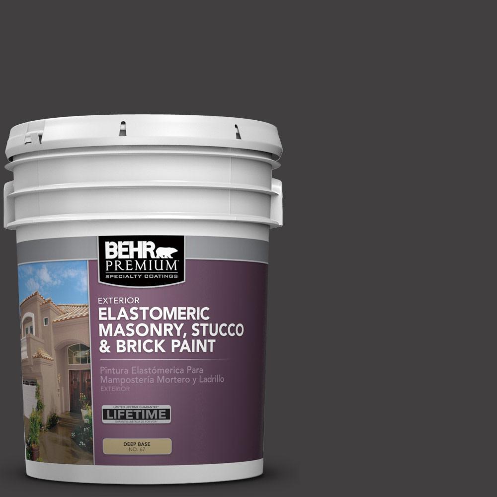 5 gal. #N510-7 Blackout Elastomeric Masonry, Stucco and Brick Exterior Paint