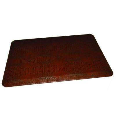 Comfort Craft Crocodile Auburn 24 in. x 36 in. Poly-Urethane Anti-Fatigue Kitchen Mat