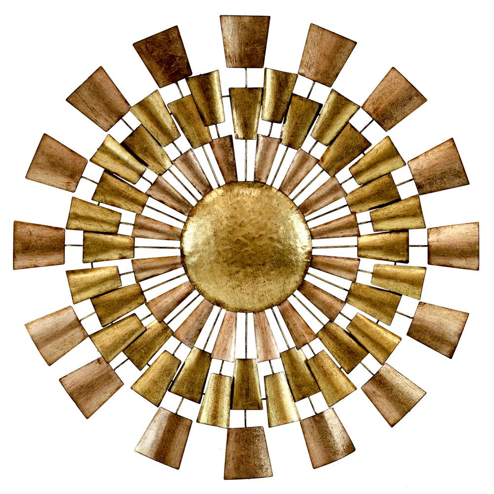 Gold Metal Wall Decor Home Ideas
