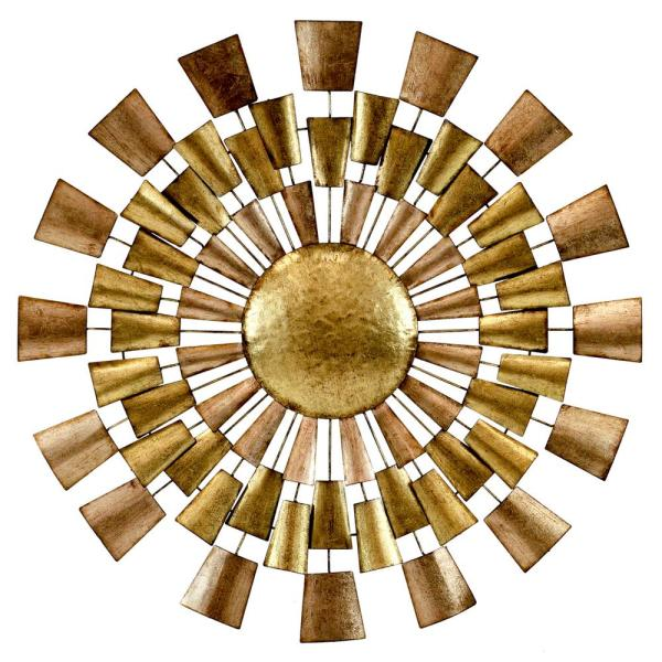Undefined Norah Copper And Gold Metal Wall Decor
