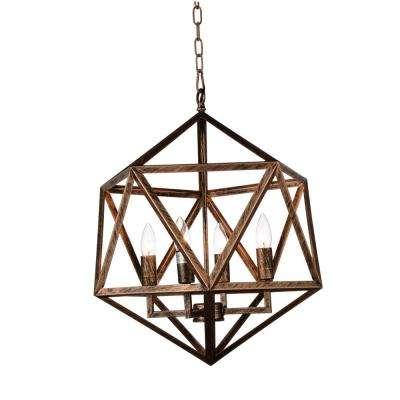 Amazon 4-Light Antique forged copper Chandelier