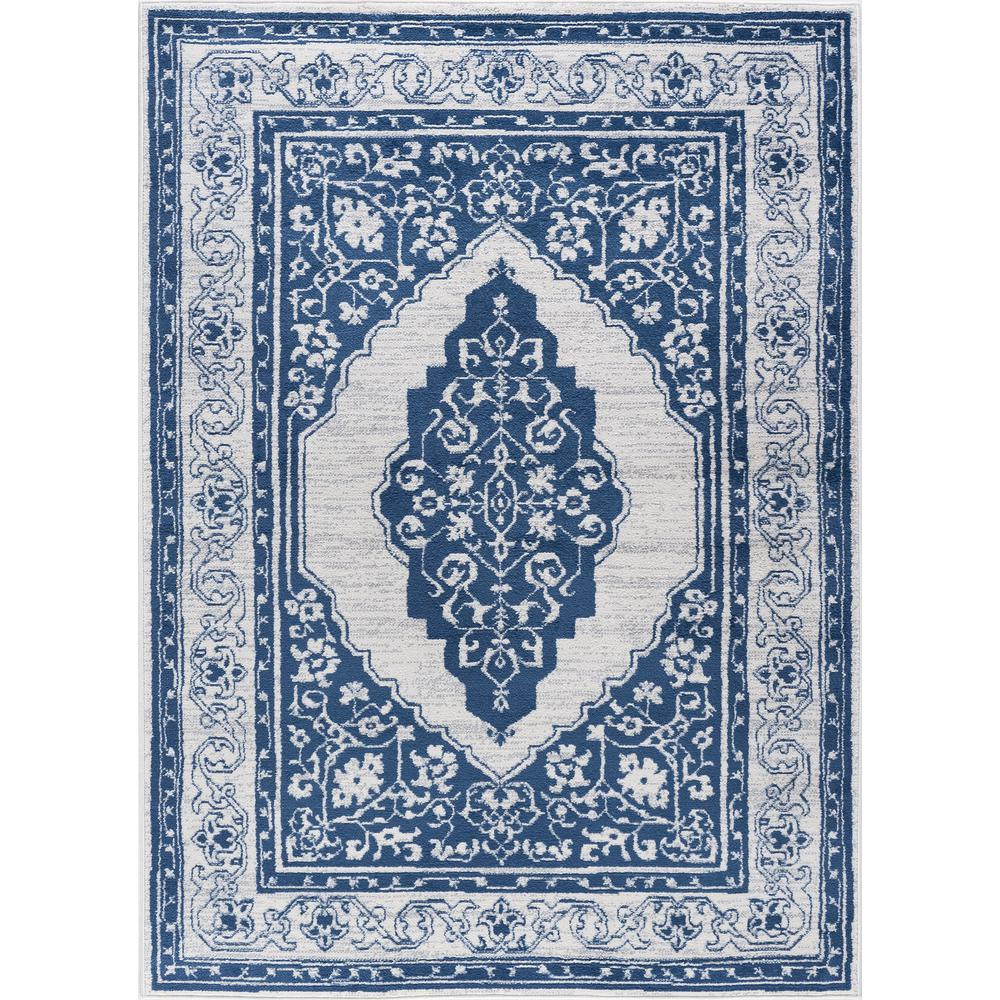 Tayse Rugs Madison Navy 8 Ft. X 10 Ft. Area Rug-MDN3207