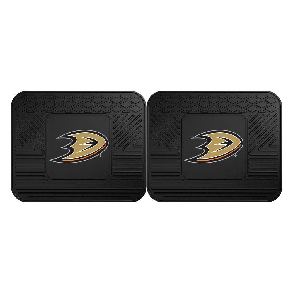 Fanmats Nhl Anaheim Ducks Black Heavy Duty 14 In X 17 In