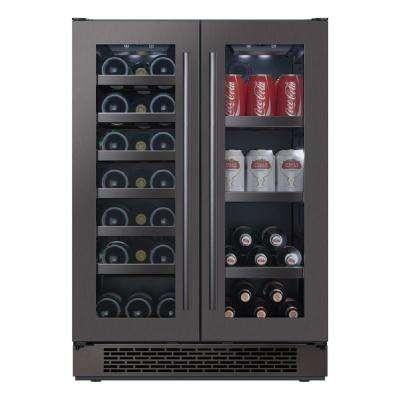 24 in. 21-Bottle Wine and 64-Can Built-In Beverage Cooler
