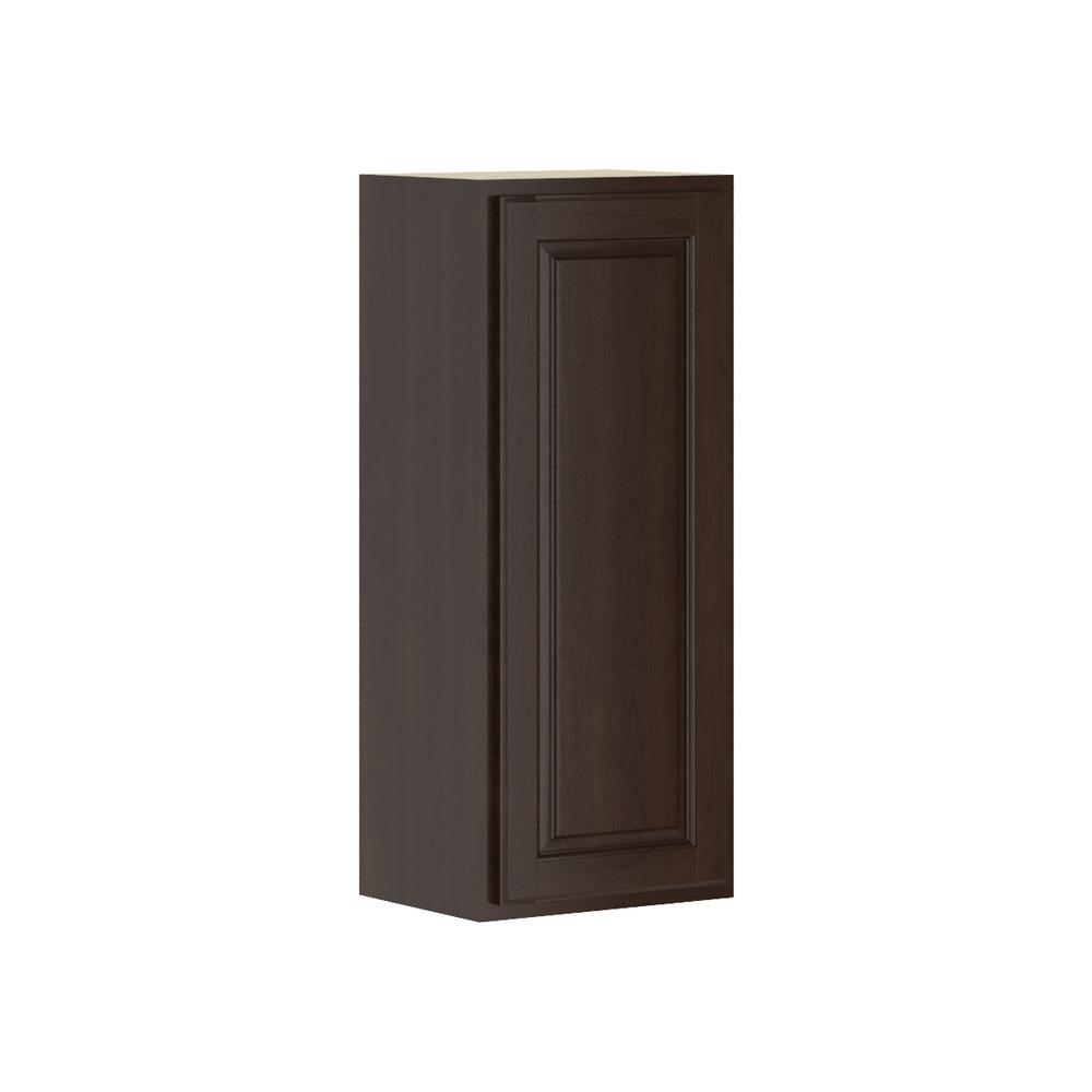 Madison Assembled 15x36x12 in. Wall Cabinet in Java