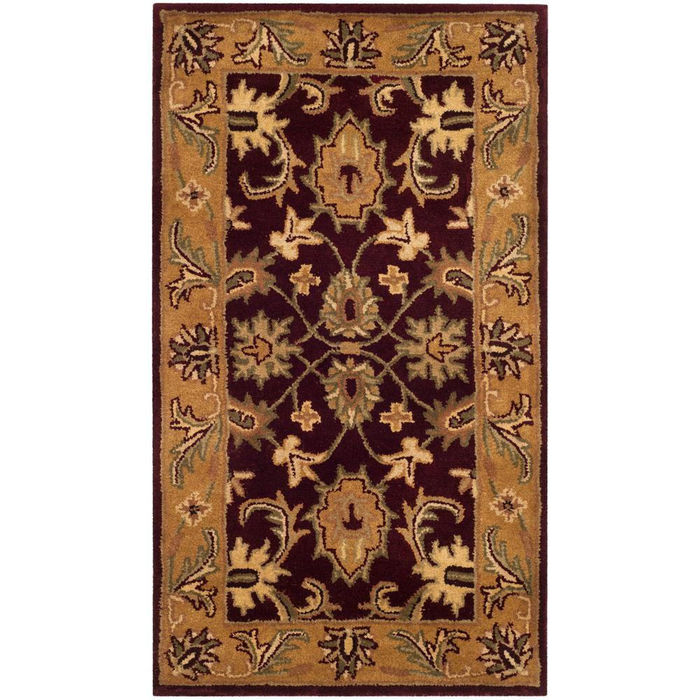 Burgundy Gold 2 Ft X 4 Area Rug