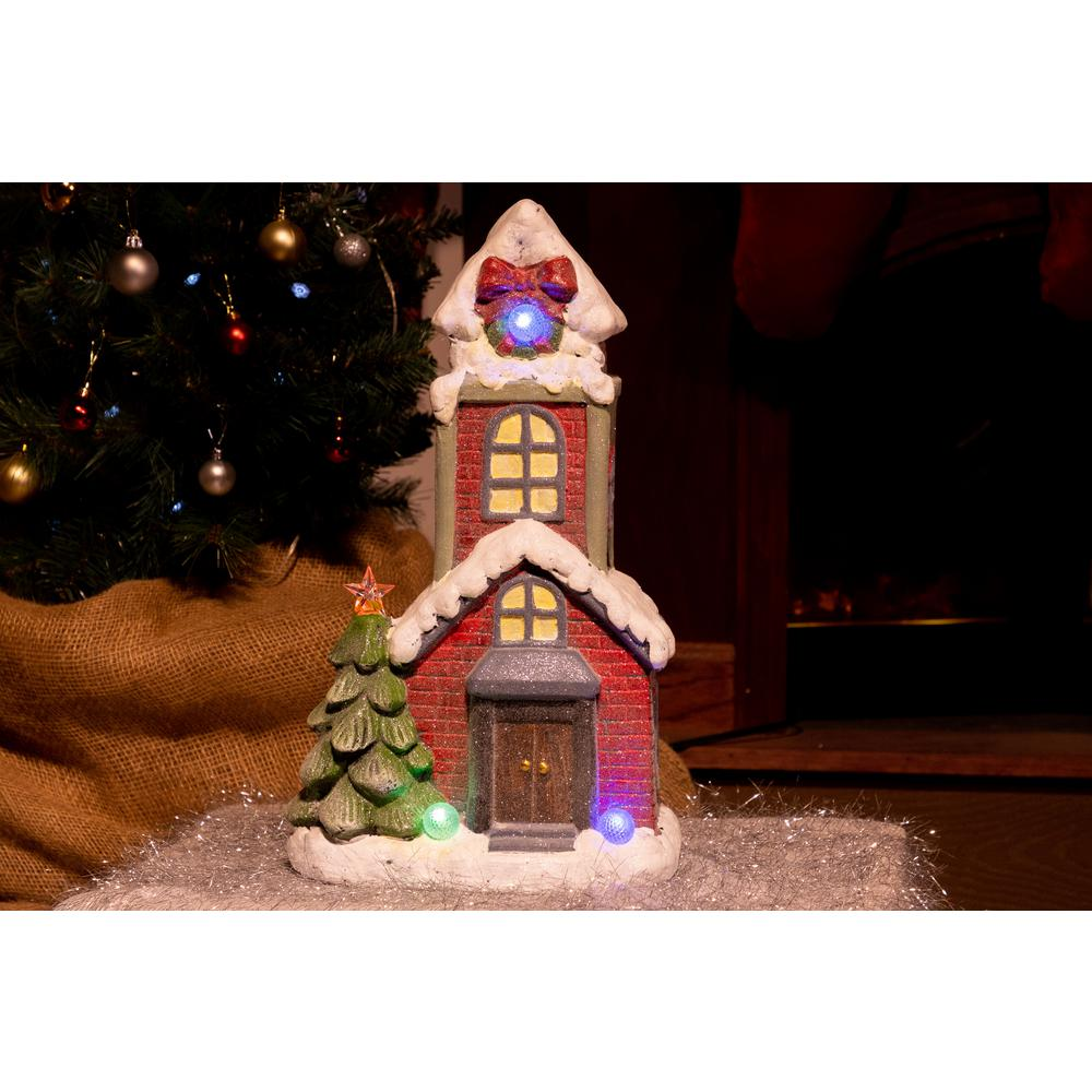 alpine house statuary with color changing led tm - Christmas Gingerbread House Yard Decoration