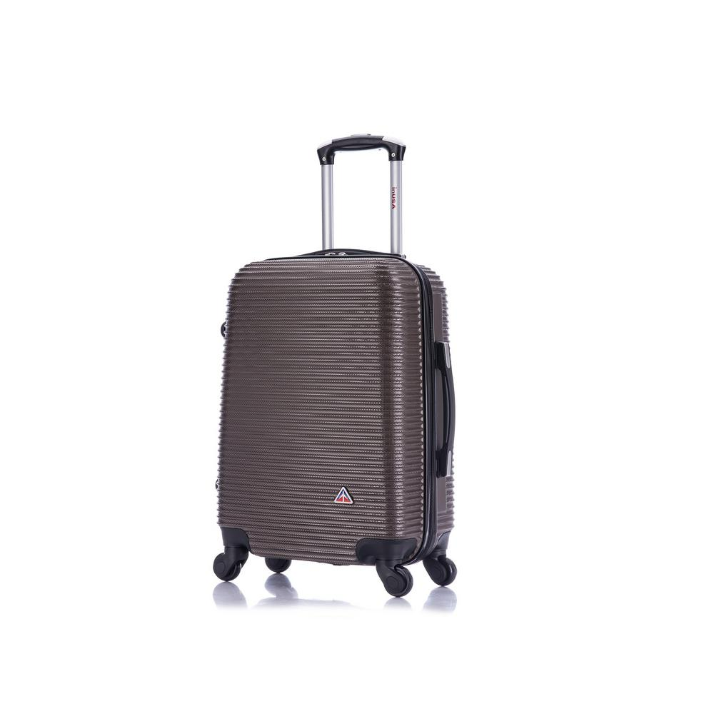Royal lightweight hardside spinner 20 in. carry-on Brown