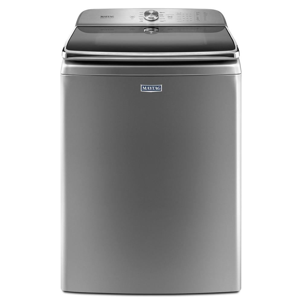 Maytag 6.0 cu. ft. Metallic Slate Top Load Washing Machine with Extra Large Capacity and Agitator, ENERGY STAR